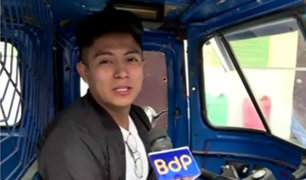 SJL: joven cantante recupera su mototaxi robada por 'raqueteros'