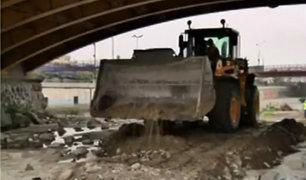 Río Rímac: realizan trabajos de limpieza para prevenir desborde por crecida de caudal
