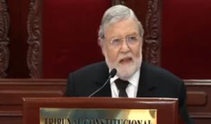 "Ernesto Blume: ""TC es inmune a toda presión"""