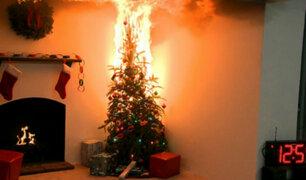 Navidad segura: consejos para prevenir incendios por sobrecarga de luces decorativas