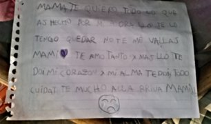 ''No te vayas mami'': la emotiva carta de niña a su madre enferma