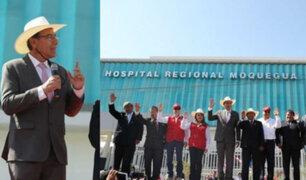 """Vizcarra sobre Hospital de Moquegua: """"Si creen necesario investigar por tercera vez no hay problema"""""""