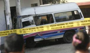 Rímac: conductor de combi muere tras estrellarse brutalmente contra vivienda