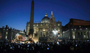 Vaticano: Plaza San Pedro luce inmenso árbol de 26 metros de altura