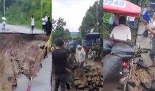 San Martín: Carretera San José de Sisa en colapso por su mala construcción