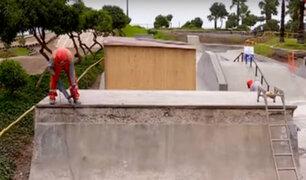 Miraflores: inician trabajos de mantenimiento en parque de skate