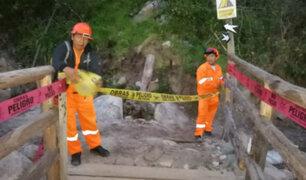 Cusco: colapsa puente de ingreso a Camino Inca a Machu Picchu por fuertes lluvias
