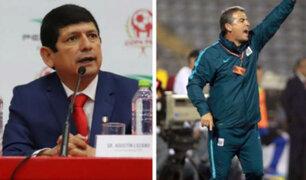 """Agustín Lozano: """"no es correcto tirar barro a los árbitros, más aún que venga de alguien que no es peruano"""""""