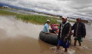 Ministra Cáceres supervisa acciones contra temporada de lluvias en Puno