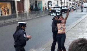 París: activistas de 'Femen' intentaron boicotear cumbre sobre Ucrania