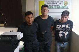 Detienen a serenos de Los Olivos que integraban banda de raqueteros