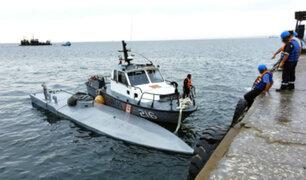 Piura: Patrullera de la Marina remolca nave sumergible que transportaba droga
