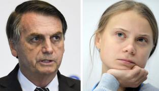 Presidente brasileño Jair Bolsonaro llama 'mocosa' a Greta Thunberg