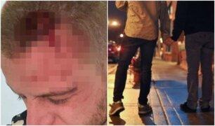 Hombre es brutalmente golpeado por besar a su pareja en bar irlandés