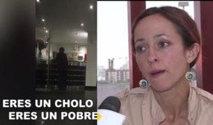 Surco: mujer acusada de racista se pronuncia tras agresión a conserje
