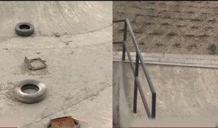Ate: Skatepark construido hace cuatro años y que nunca se usó, hoy luce deteriorado