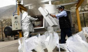 Ate: destruyen más de 63 toneladas de droga incautada en lo que va del 2019