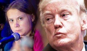"""Trump arremete contra Greta Thunberg y le dice que se """"calme"""""""