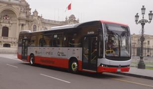 Municipalidad de Lima presenta primer bus eléctrico que será parte del Corredor Rojo