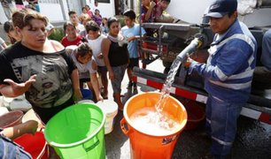 Piuranos alarmados ante posible corte del servicio de agua potable