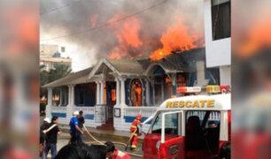Lambayeque: incendio destruye histórica casona de Pimentel
