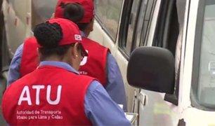 ATU amplía por un año autorización para que combis y cústers circulen por Lima