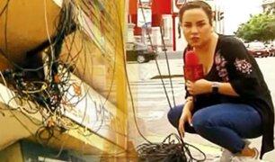 """""""Bomba de tiempo"""": malas instalaciones de cables ponen en peligro al ciudadano en Lima"""