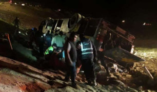 Arequipa: caída de bus a abismo deja al menos 7 muertos y 39 heridos