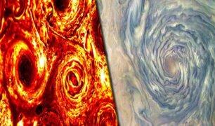 """Nasa revela imágenes de un """"aro del infierno"""" hallado en Júpiter"""