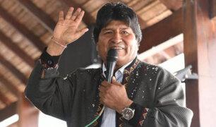 Evo Morales convoca mitin en frontera Argentina-Bolivia