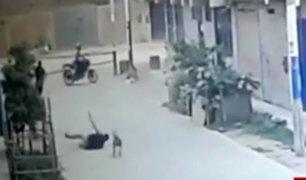 SMP: policía fue asaltado y baleado por 'raqueteros' en moto