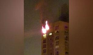 San Borja: incendio en edificio se habría producido por una vela encendida
