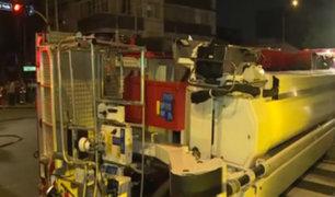 Camión telescópico de bomberos siniestrado podría recuperarse con seguro