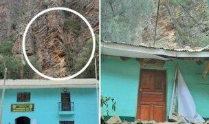 Áncash: comisaría de Huaytun queda inhabitable tras derrumbe provocado por lluvias