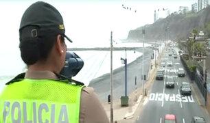 Costa Verde: desde hoy se empezó a imponer multas por exceso de velocidad