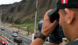 Operativo en la Costa Verde: exceso de velocidad es multado hasta con 756 soles