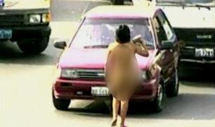 Magdalena: mujer desnuda amenaza a conductores para exigirles dinero