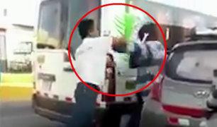 Arequipa: conductores se pelean por disputa de pasajeros