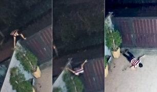 Delincuente cae de cara al intentar entrar a una casa para robar
