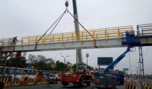 Vía de Evitamiento: puente Las Palmeras fue reabierto tras refacción