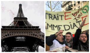 Día 13 de protestas: Torre Eiffel tuvo que ser cerrada por huelga en Francia