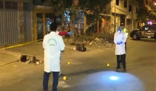 Balacera en Los Olivos: policía no descarta un ajuste de cuentas