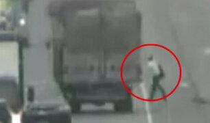 Trujillo: camión arrolla y mata a hombre de 72 años