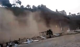 Costa Verde: vía quedó bloqueada tras derrumbe en acantilado