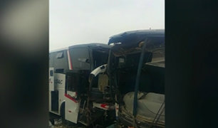 Trujillo: un muerto y 8 heridos tras aparatoso choque de buses interprovinciales