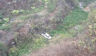 La Libertad: caída de camioneta a abismo deja una persona herida