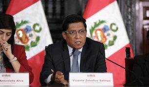 Premier Zeballos: Consejo de Ministros aprobó cuatro decretos de urgencia