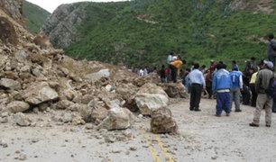 Junín: derrumbe bloquea un tramo de la carretera La Oroya-Huancayo