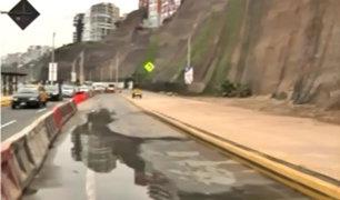 Costa Verde continúa cerrada tras derrumbe en acantilado