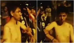 Carabayllo: vecinos desnudan y casi linchan a delincuente tras cometer robo